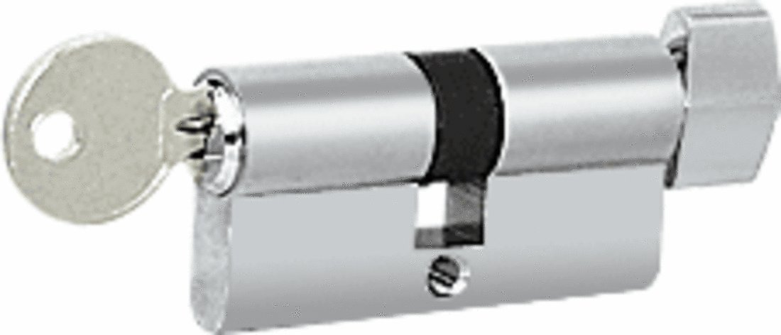 CRL Polished Stainless Keyed Cylinder Lock with Thumbturn