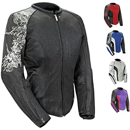 Joe Rocket Cleo 2.2 Women's Mesh Jacket (Black/Black, Small) 1250-0002