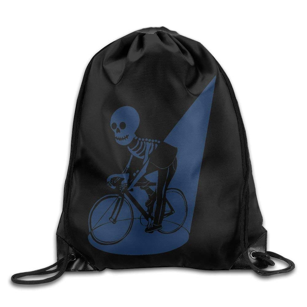 0f132063f8 Amazon.com  Drawstring Backpack Gym Bag Travel Backpack Funny Skull Riding  Blue Best Gym Backpacks for Teen Kids 16.9x14.2  Computers   Accessories
