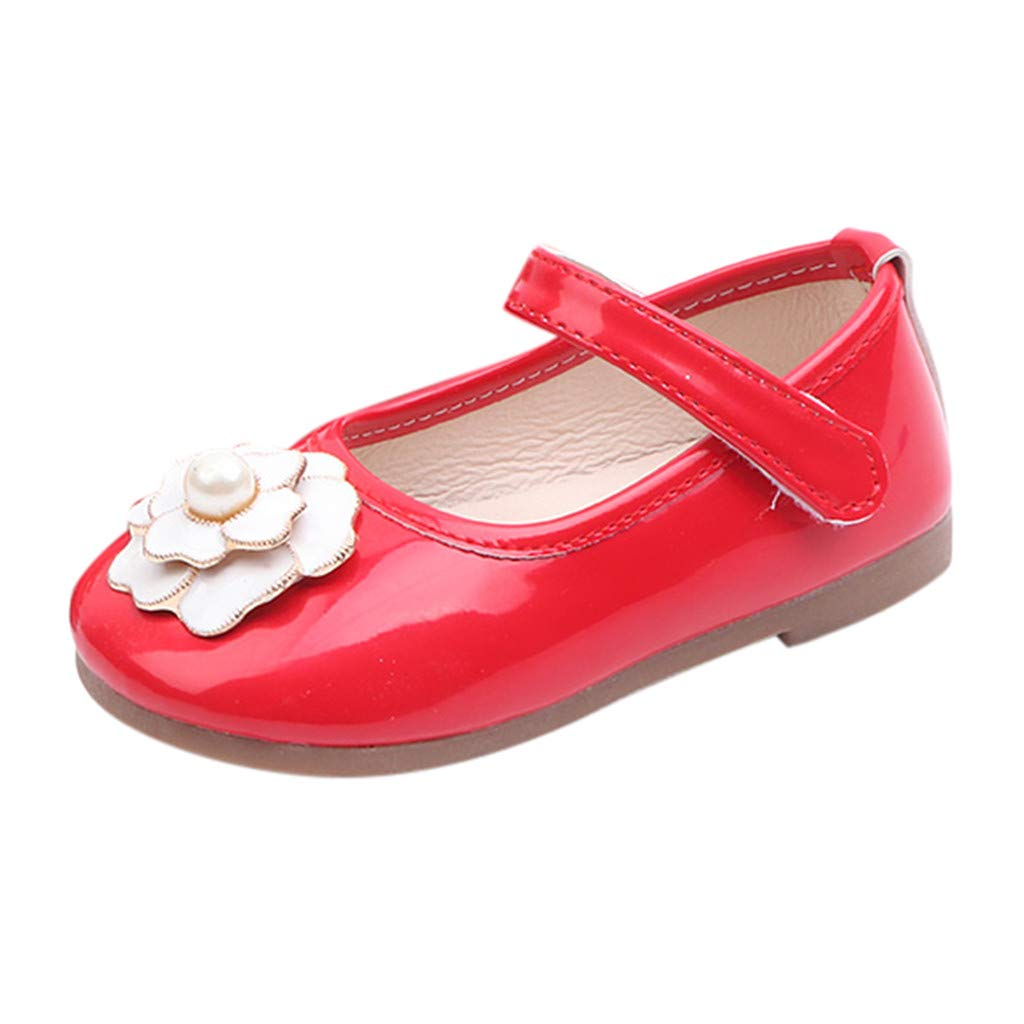LIKESIDE Girl Ballet Non-Slip Toddler for Kid Infant Red