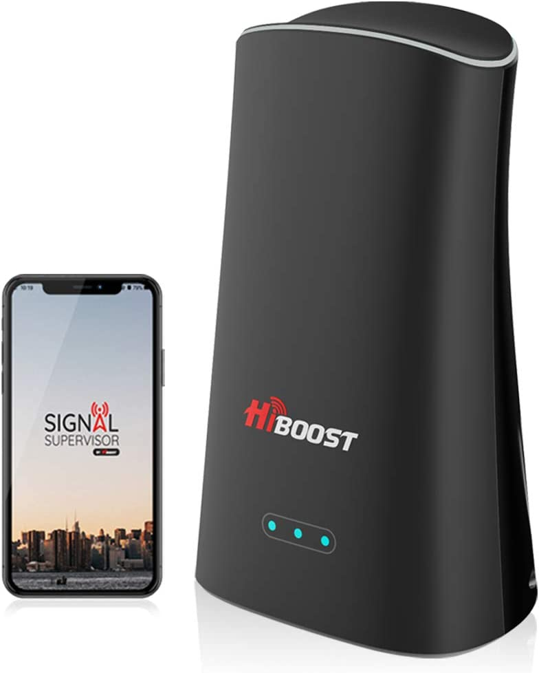 Hiboost Cell Phone Signal Booster Up to 2,000 sq ft for Home & Office, Boosts 3G 4G LTE Voice and Data for All U.S. Carriers - Verizon, T-Mobile, Sprint, AT&T Cellular Repeater Amplifier Kits with APP