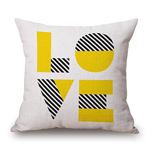 Pillow Slipcases,Meyerlbam Yellow Pillow Case Sofa Waist Throw Cushion Cover Home Decor (S, B)