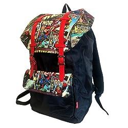 Retro Comic Red Urban Backpack
