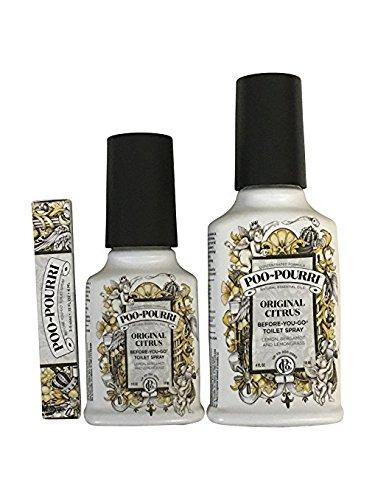 Poo-Pourri Before-You-Go Toilet Spray 4-Ounce,Bottle,Original Scent, Poo-Pourri Before-You-Go Toilet Spray 2-Ounce Bottle,Original