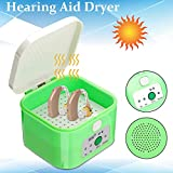 MFZTQ Hearing aid Dehumidifier 3-6hours Timer Dryer Drybox Drying Protective Storage Hard Case