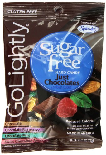 Go Lightly Just Chocolates Sugar Free Hard Candy, 2.75 Ounce (Pack of 12)
