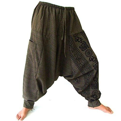 Siamrose Harem Pants for Men and Women, Baggy Pants, Aladdin Pants, Yoga Pants, One Size, Green For Sale