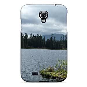 Unique Design Galaxy S4 Durable Tpu Case Cover Cloudy Day On The Lake