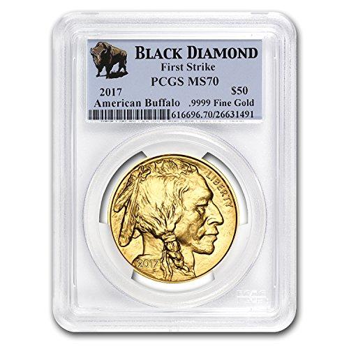 2017 1 oz Gold Buffalo MS-70 PCGS (FS, Black Diamond) 1 OZ MS-70 PCGS