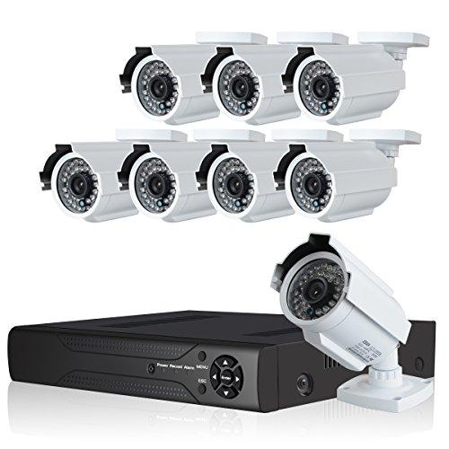 JOOAN TC-604DVR-8H 1080TVL Analog Cameras 8 CH CCTV DVR System Surveillance Security Cameras Indoor/Outdoor