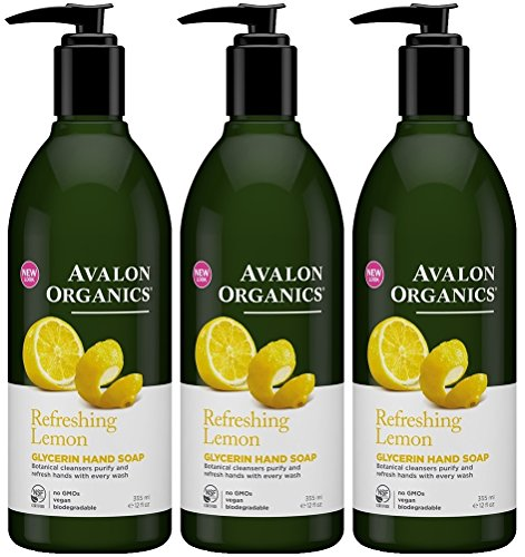 erin Hand Soap, Lemon, 12 Ounce (Pack of 3) (Avalon Toilet)