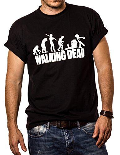 MAKAYA Walking Dead - Playera Negra Hombre Zombie Evolution XXXL