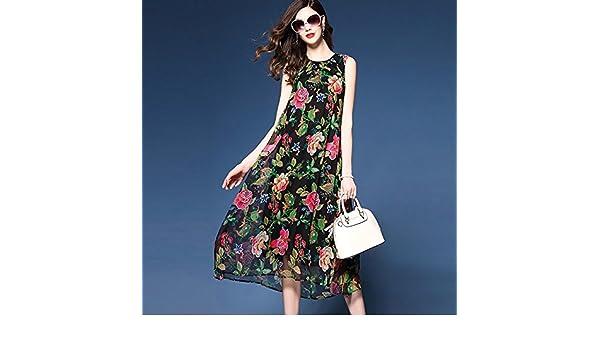 Amazon.com: JIALELE Womens Plus Size Boho Loose Chiffon Swing Dress - Floral, Stylish Chiffon Printing,Black,XXL: Sports & Outdoors
