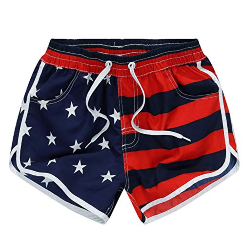 New in American Flag Respctful✿Men Fitness Shorts Workout Bodybuilding Gym Fitness FitShort Pants Casual Loose
