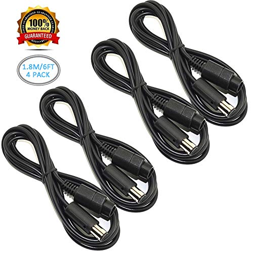 Ssgamer 4X 6ft Wii/Gamecube Extension Cables for Nintendo Wii Gamecube GCN