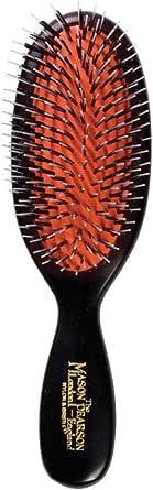 Mason Pearson Pocket Mixture Hair Brush, Dark Ruby