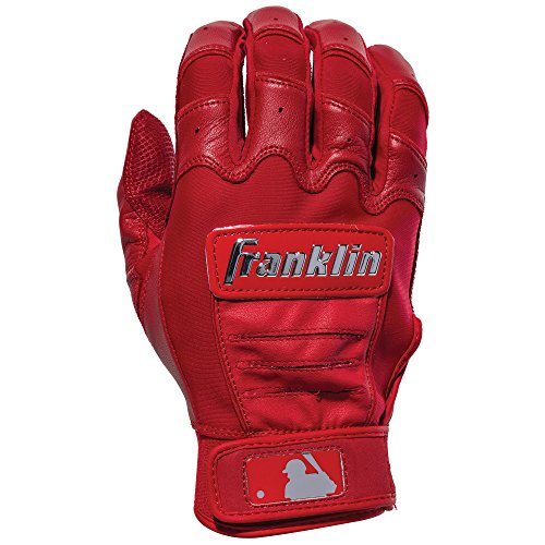 Franklin Wristband (Franklin Sports CFX Pro Full Color Chrome Series Batting Gloves CFX Pro Full Color Chrome Batting Gloves, Red, Adult Large)