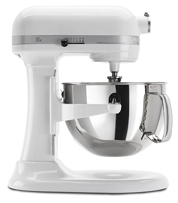KitchenAid KP26M1XWH 6 Qt. Professional 600 Series Bowl-Lift Stand Mixer - White