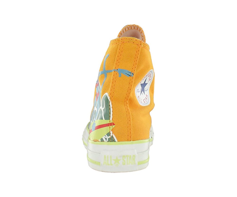 Converse All Star Chuck Taylor Space Hi Boys Canvas Shoes Size US 1, Regular Width, Color Blue/Orange/Yellow by Converse (Image #7)
