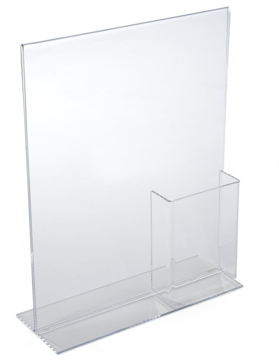 Displays2go Countertop Brochure Holder with 11 x 14 Sign Frame 1114C George Patton Associates Inc 1114C Set of 10 Holds 4 x 9 Pamphlets Holds 4 x 9 Pamphlets