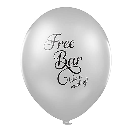 Funny Hochzeit Luftballons Gratis Bar Auch Eine Hochzeit X 10