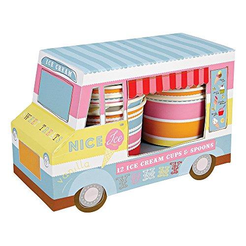 Meri Meri Ice Cream Van with Cups and Spoons, 12-Pack