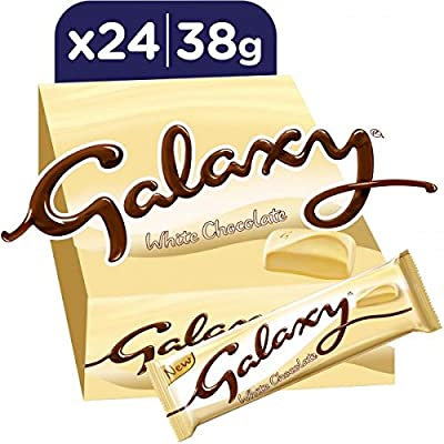 Galaxy White Chocolate Bars 38g X 24 Amazoncouk Grocery