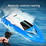 Volwco Remote Control Boat for Kids Adults,2.4Ghz High Speed Racing Boats Waterproof Remote Control Boat for Pools and Lakes,Boys Girls Toy Boats