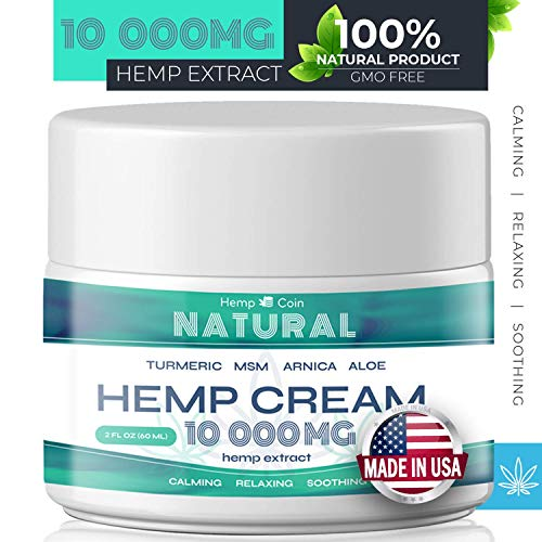 Organic Hemp Pain Reliever, 10000 Mg, Non-GMO, Natural Hemp Extract for Joint, Muscle, Back, Neck, Knee Pain, Made in USA (Scalp Pain Relief)