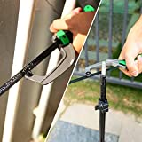 METAKOO Hacksaw Frame with Mini Hacksaw, Two Sawing Angles (45°/90°) Saws, High-Tension Adjustable Hand Saw With 12-Inch Replaceable Saw Blades for Sawing Metal, Wood, PVC Pipes | MHS01H