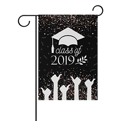 ALAZA Happy Graduation Honor Class of 2019 Garden Flag Home Polyester Fabric Welcome House Yard Banner,12x18 Inch (For Honor Best Class)
