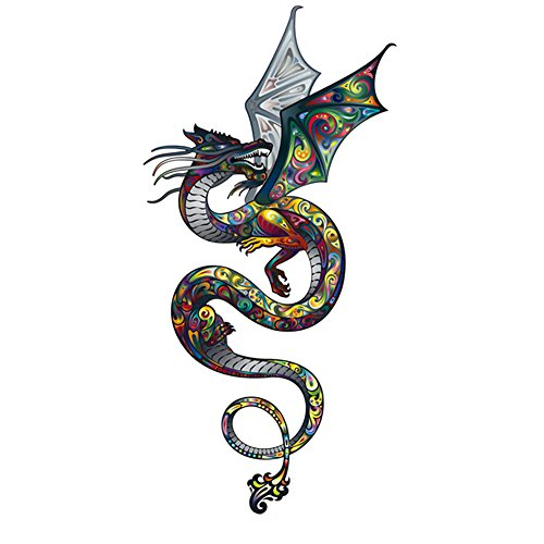 ARTEM Colored Dragon Iron On Patch DIY T-Shirt Jacket Grade-A Thermal Transfer Stickers 11.4X5.9inch