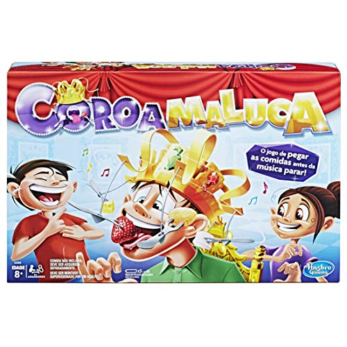 Hasbro Gaming Brinquedo Jogo Coroa Maluca, Amarelo/Laranja/Cinza