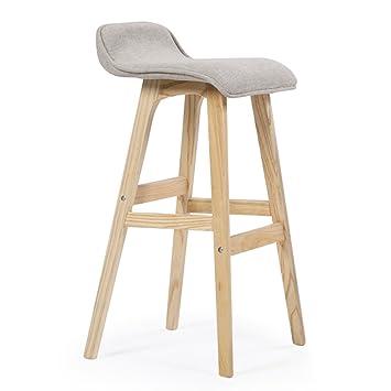 Qiangzi Modernas sillas de madera Taburetes de bar Taburetes de ...