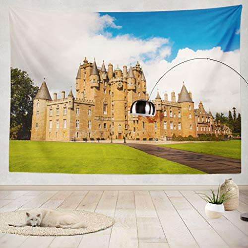 ONELZ Decor Collection,Glamis Castle in Scotland On A Summer Day Bedroom Living Room Dorm Wall Hanging Tapestry 50