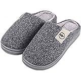Holyami Women's Clog Slippers Comfortable Memory Foam House Slippers Mens Fluffy Slip On Indoor Slipper House Shoe for Women