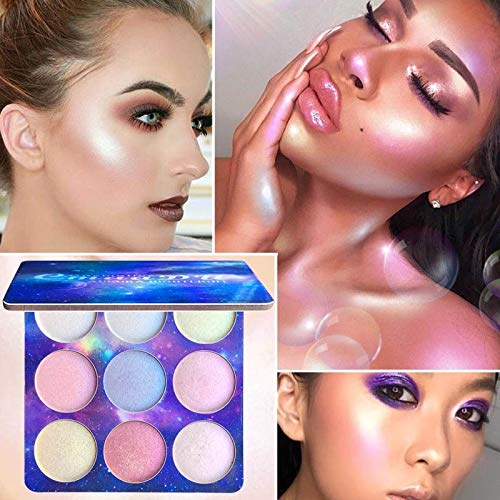 9 Colors Face Brighten Contouring Highlighter Powder Palette