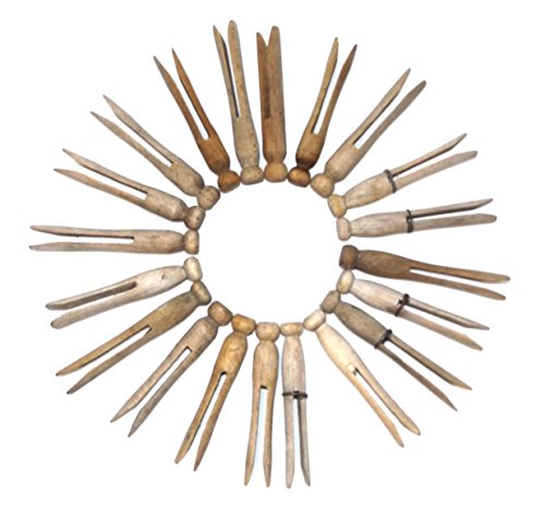 vintage-lot-of-20-weathered-wooden-clothespins-laundry-clothes-pins-1-piece-round-style