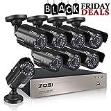ZOSI 8-Channel HD-TVI 720P 1080N Video Security DVR Surveillance Camera Kit 8x 1280TVL Indoor Outdoor IR Weatherproof Cameras 65feet 20m Night Vision with IR Cut NO Hard Drive