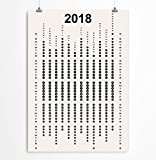 Minimalist wall calendar for 2018 Black and White Office stationery Paper goods 5x7, 8x10, 11x14, 12x16, 13x19 inches - Heavyweight matte paper 192 gsm - Unframed