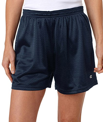 - Champion Ladies' Active Mesh Shorts, Nvy, Medium