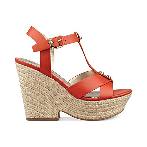 Marc Fisher - Sandalias de vestir para mujer Orange Leather