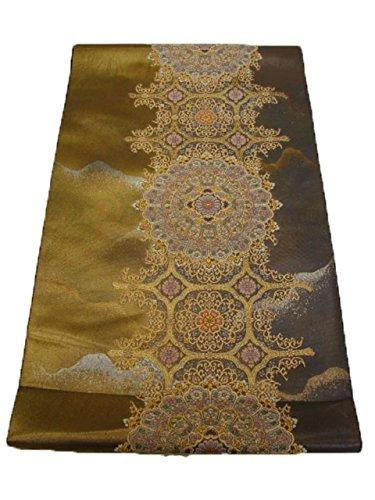 カテナぬいぐるみロデオ博多着物市場 きものしらゆり 訪問着 無地用 西陣織 箔織 袋帯 正絹 六通柄