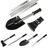 4 in 1 Military Folding Shovel+ Knife+Axe+Saw,TopBox Portable Shovel Tool Kit Functional Carry