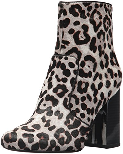 Nine West Women's Jilene Ankle Boot, Grey Multi/Black Pony, 10 Medium - Nine Booties West