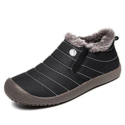 SITAILE Herren Damen Outdoor Knöchelhoch Slip On Komfort Boots Stiefel für Winter,Blau,42