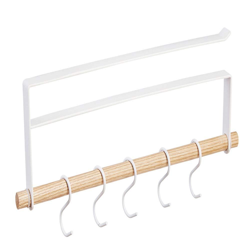 YOTHG Multifunctional Under Shelf Cabinet Hanger Hook Storage Rack Stainless Steel Cupboard Hanging Hook Hanger Housewares Hook (White)