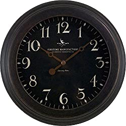 8.5 in. Black Round Onyx Wall Clock