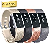 Tobfit Fitbit Charge 2 Replacement Bands (4 pack), Soft...