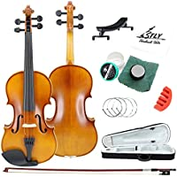 TLY Acoustic Professional Handmade Violin Wooden Outfit Beginner Pack for Student (1/4 Size)